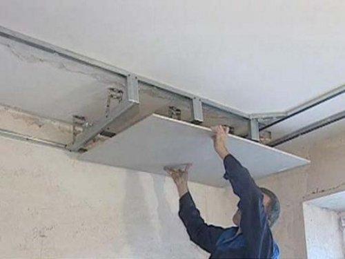 Каркасный потолок своими руками