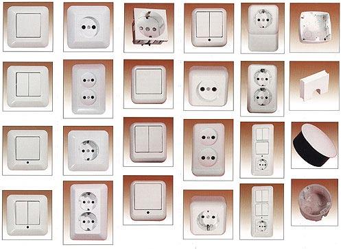 Современные розетки и выключатели изготавливают из высококачественного ударопрочного...