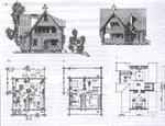 Рис. 1. Двухэтажный пятикомнатный жилой дом с мансардой.  Проект 236.  Архитектор Н.Шершнева.