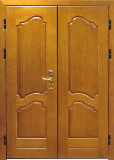 двери входные распашные двустворчатые из дерева